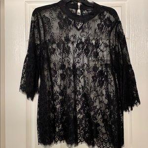 Torrid black lace blouse